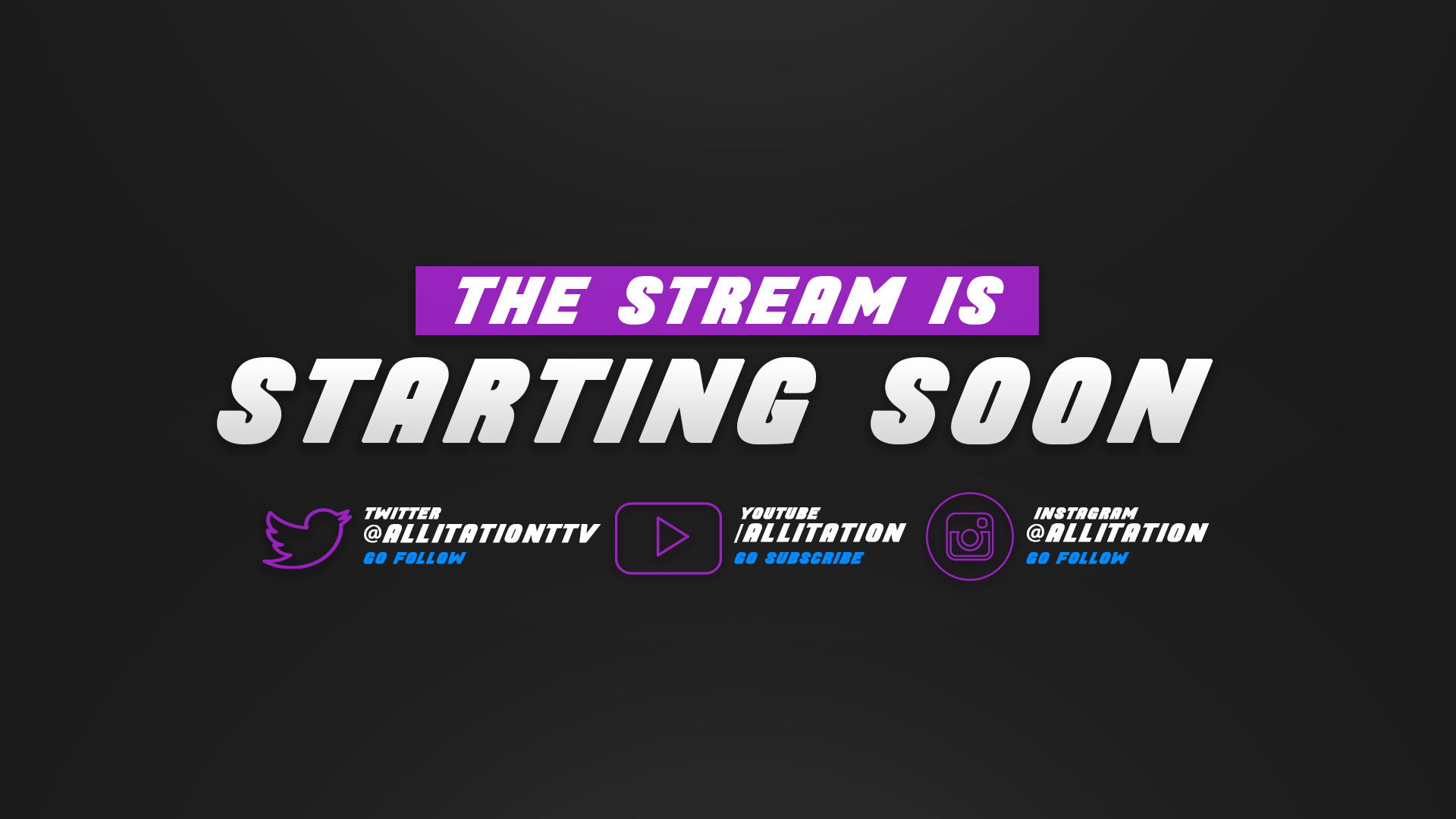 Collection Of Offline Stream Starting Soon Screens 5 On Behance