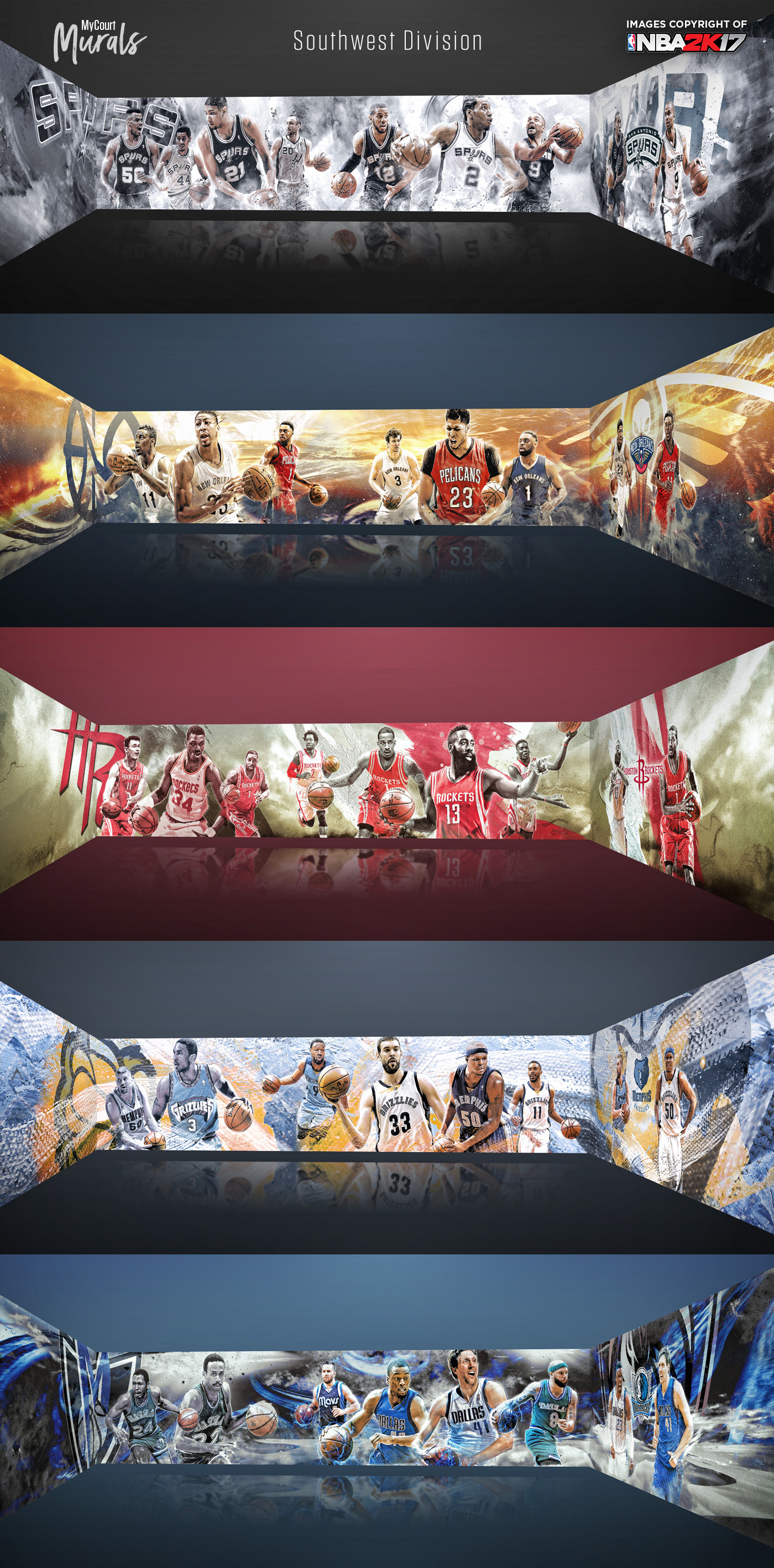 Nba 2k17 mycourt murals on behance in game renders amipublicfo Image collections