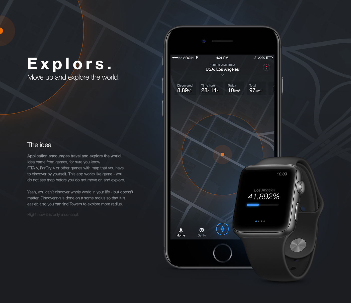 Explors explore the world app on behance explore the world app on behance gumiabroncs Choice Image