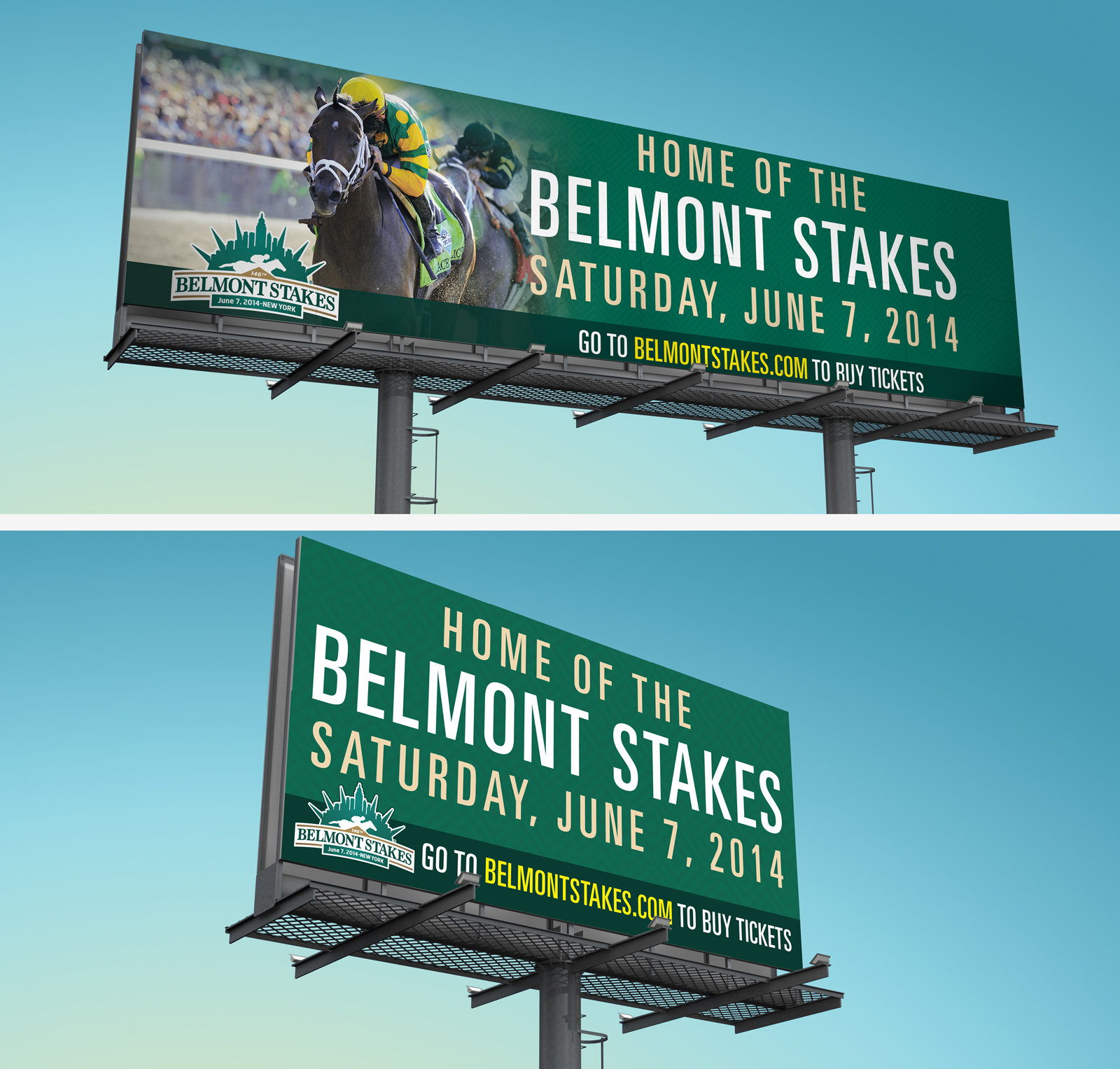 Belmont Stakes billboards