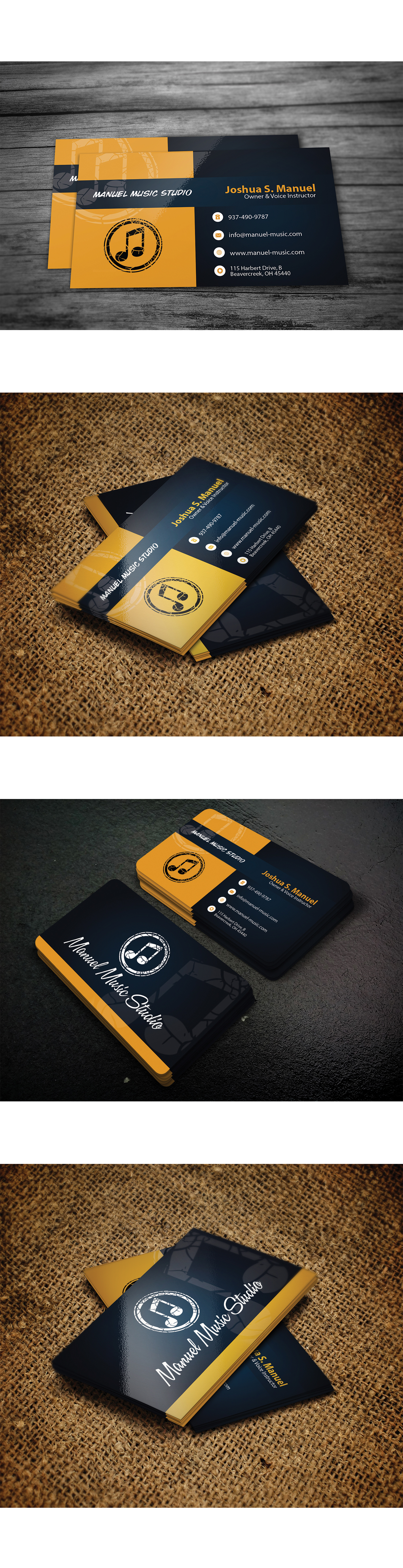 Free Business Card Design PSD File On Behance - Music business card template