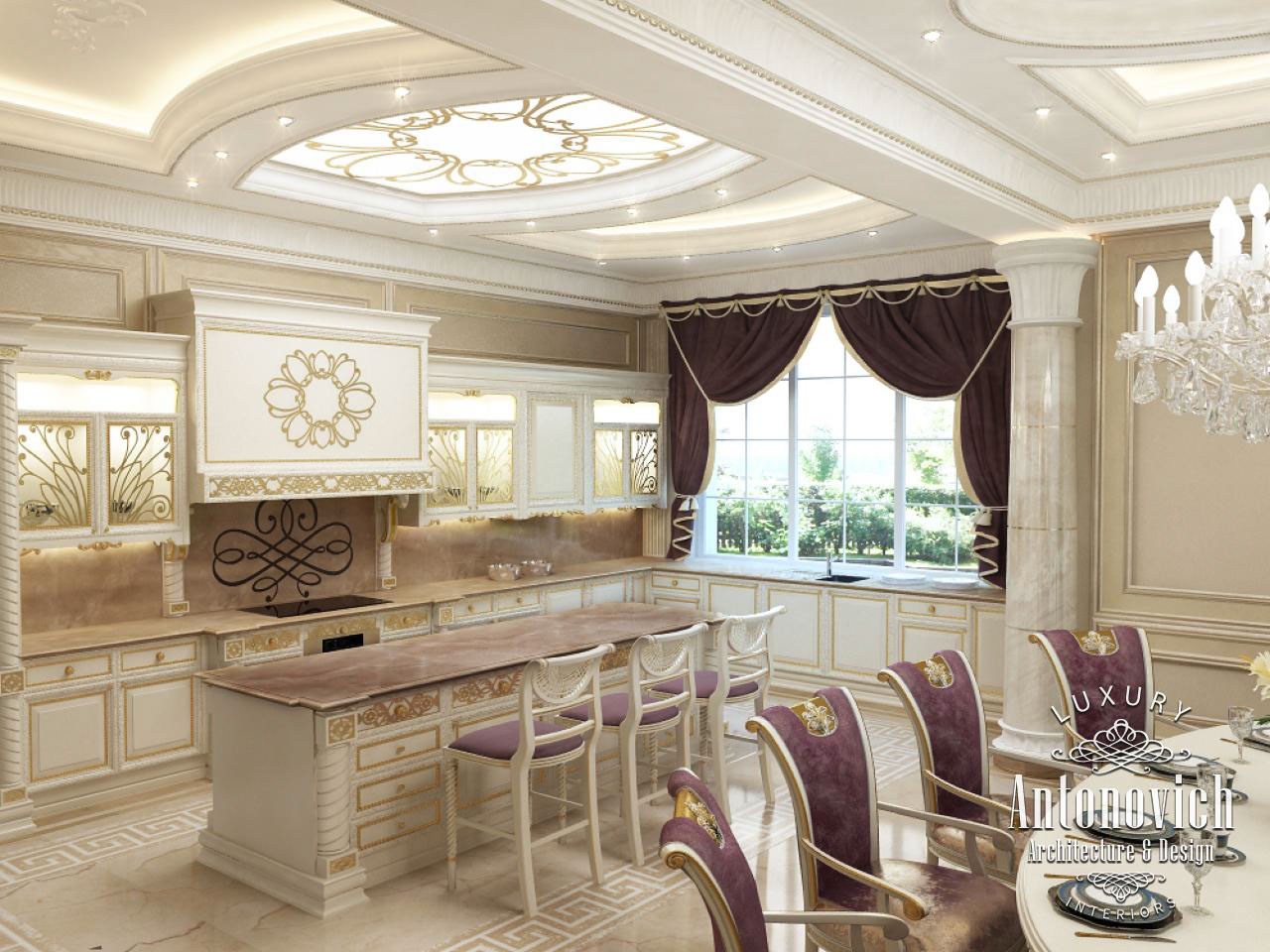 luxury kitchen interior design.  Kitchen Dubai From Luxury Antonovich Design On Behance