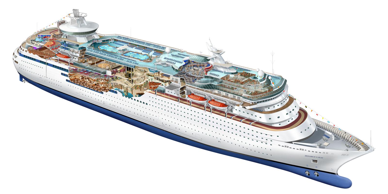 royal caribbean cruise line illustrations on behance