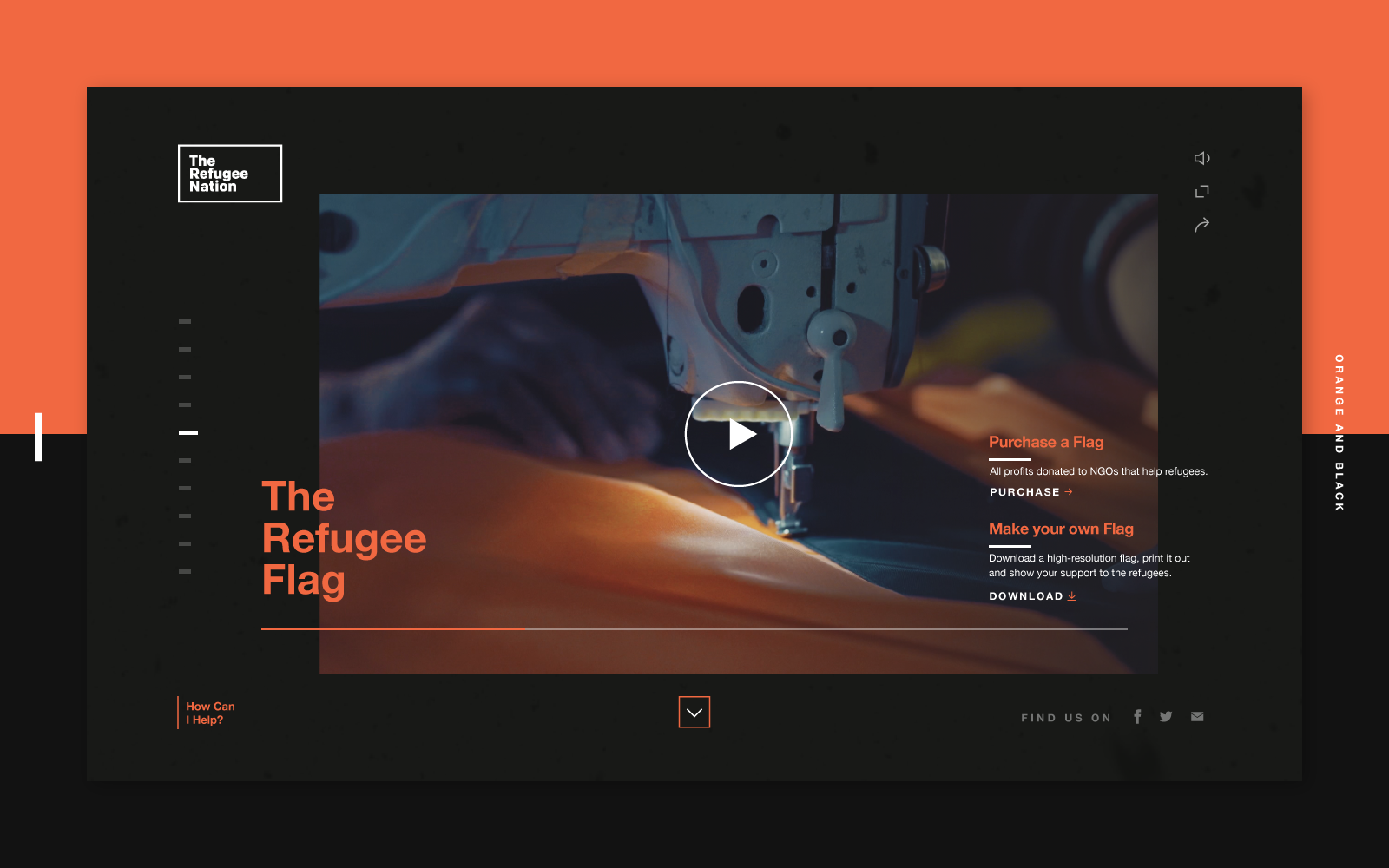 Interaction Design & Art Direction: The Refugee Nation