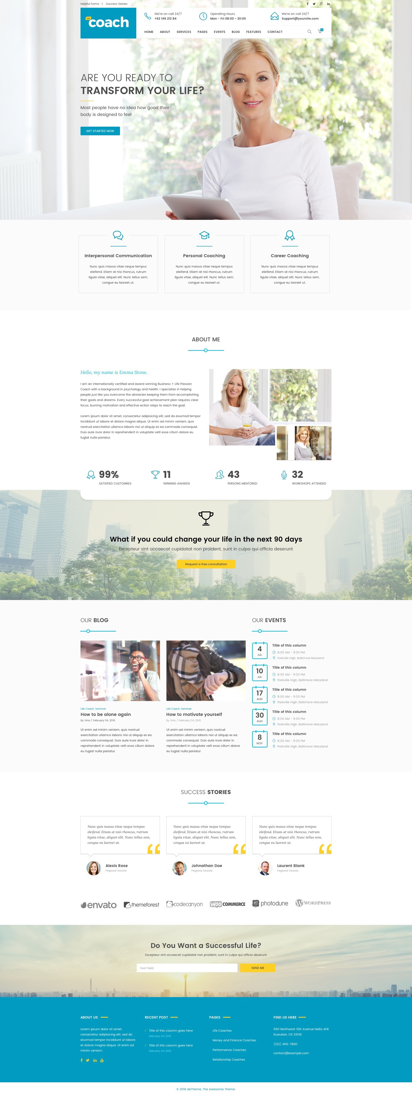 WP Coach   WordPress Theme on Behance