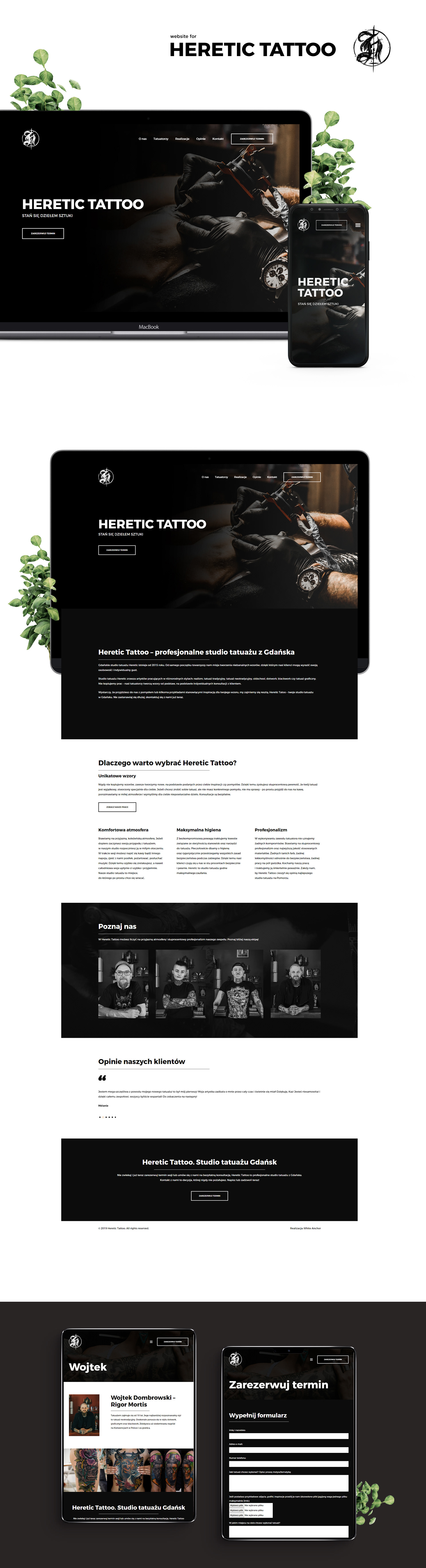 Website For Heretic Tattoo Studio On Behance