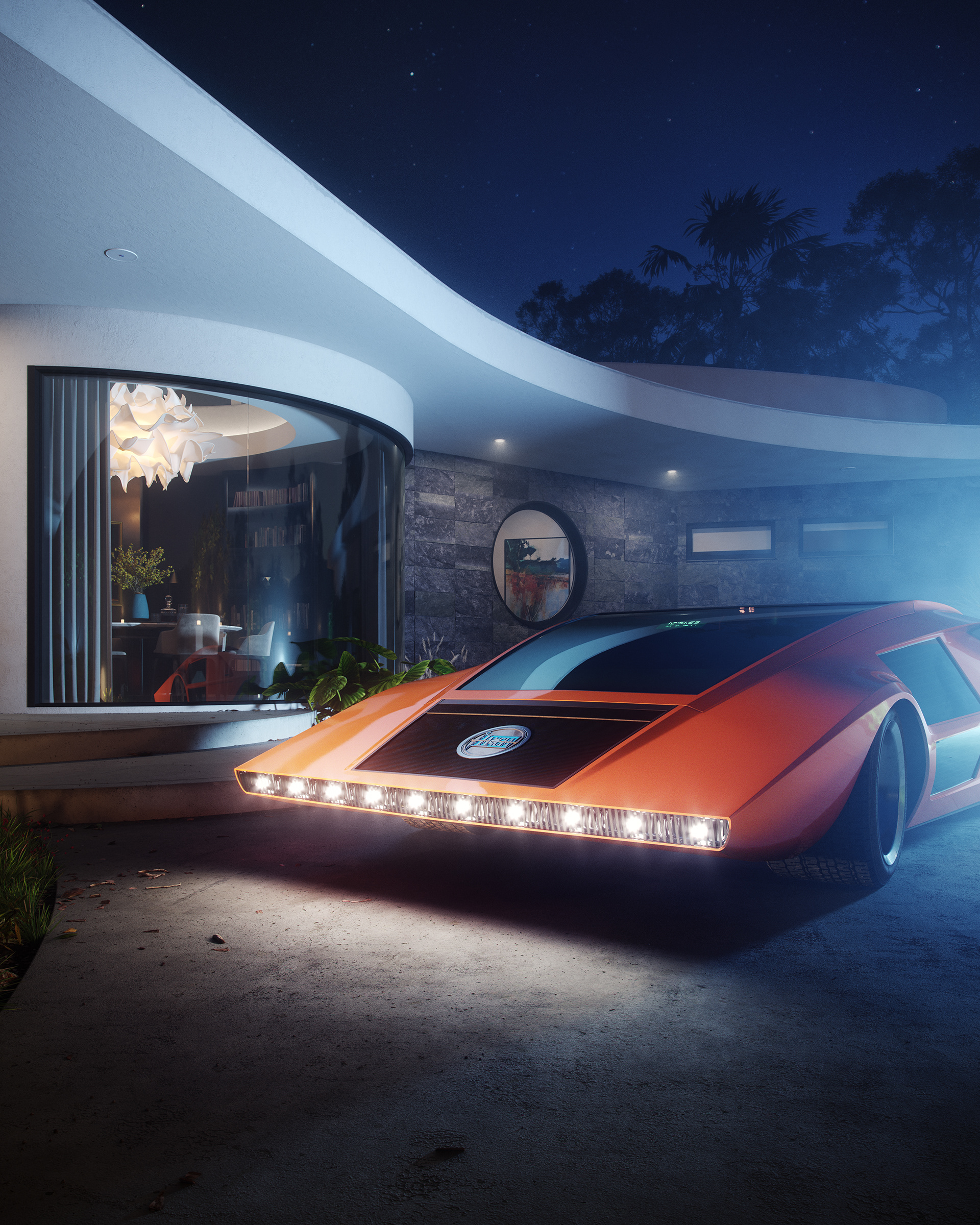 CGI Recreation of the iconic Lancia Stratos HF Zero