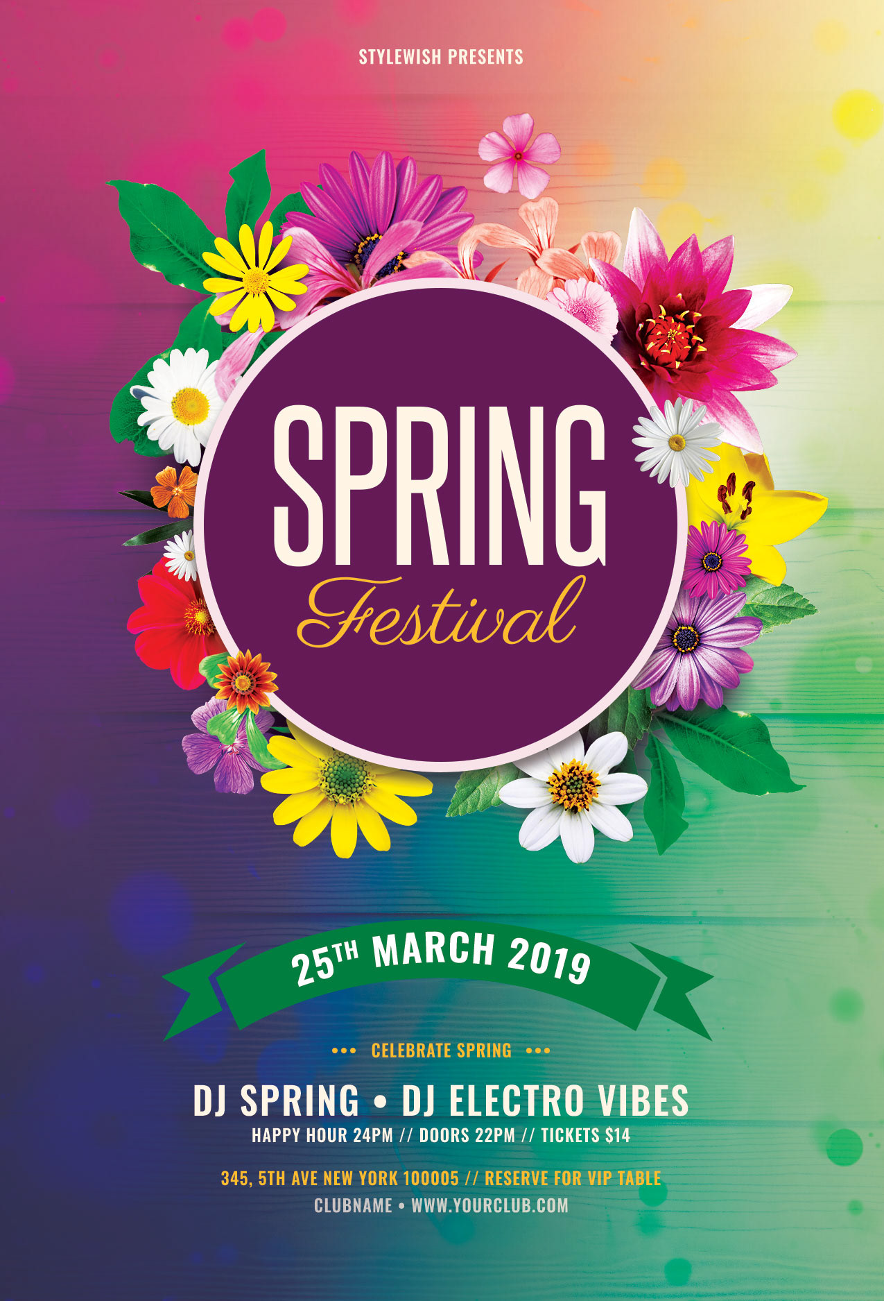 Spring Festival Flyer On Behance