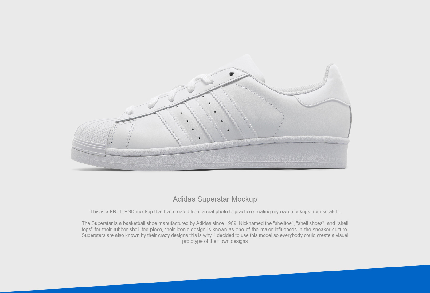 nouvelle arrivee 87a85 dc568 FREE PSD Mockup - Adidas Superstar on Behance
