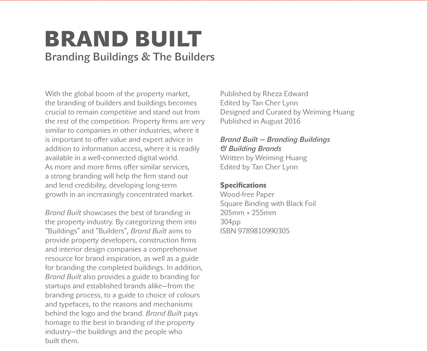 Brand Built — Branding Buildings & their Builders on Behance