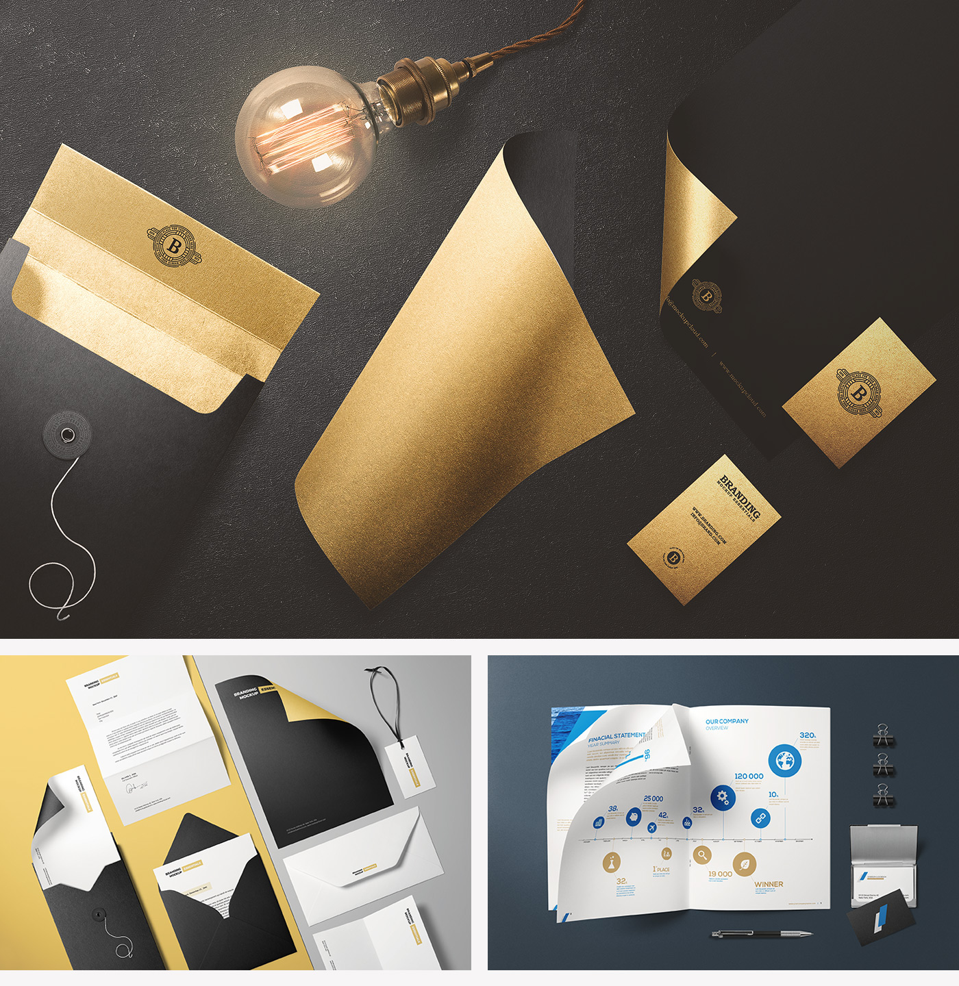 branding mockup essentials on behance