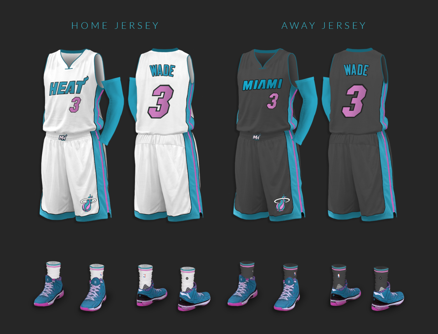 new concept d2e35 dea5d Miami Heat - Vice Nights Alternate Design Project on Behance