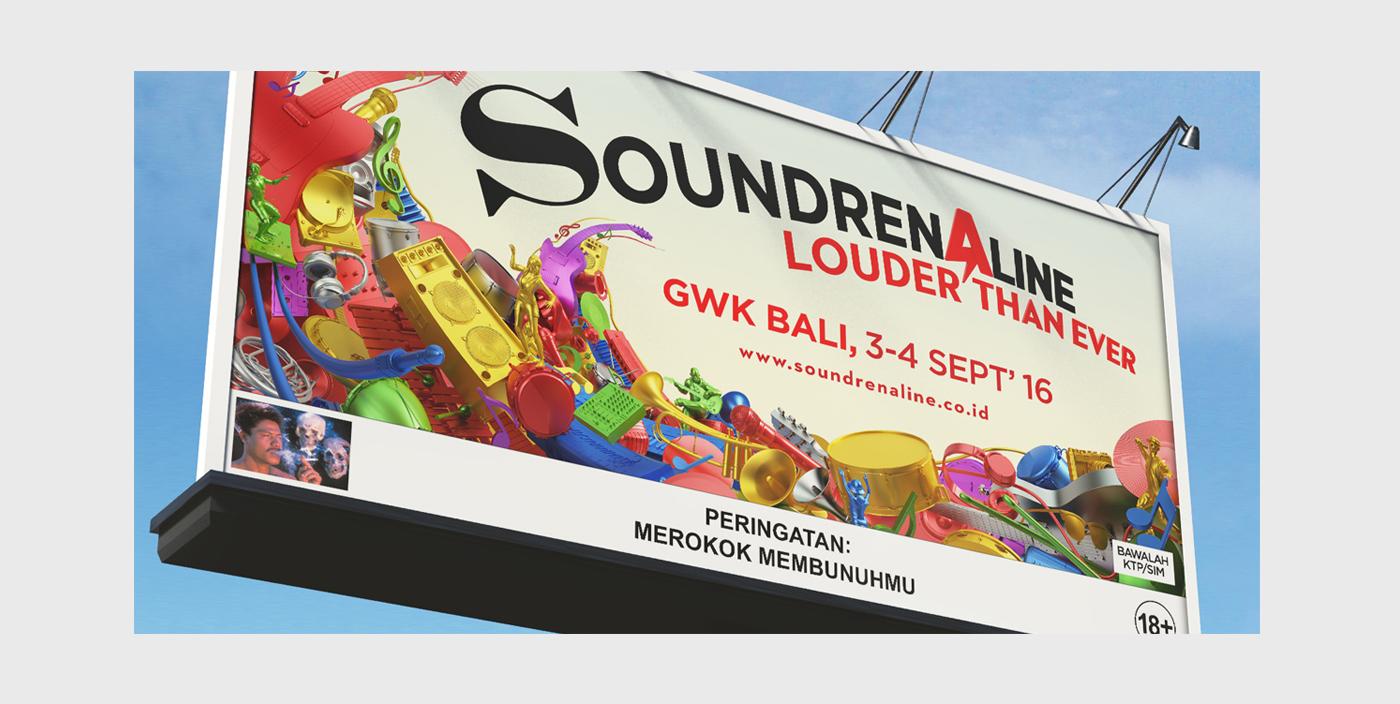 Advertising Soundrenaline 2016 On Behance Tiket Soundren