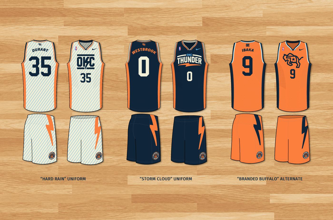 b1ef27ff8 Oklahoma City Thunder Re-Brand on Behance