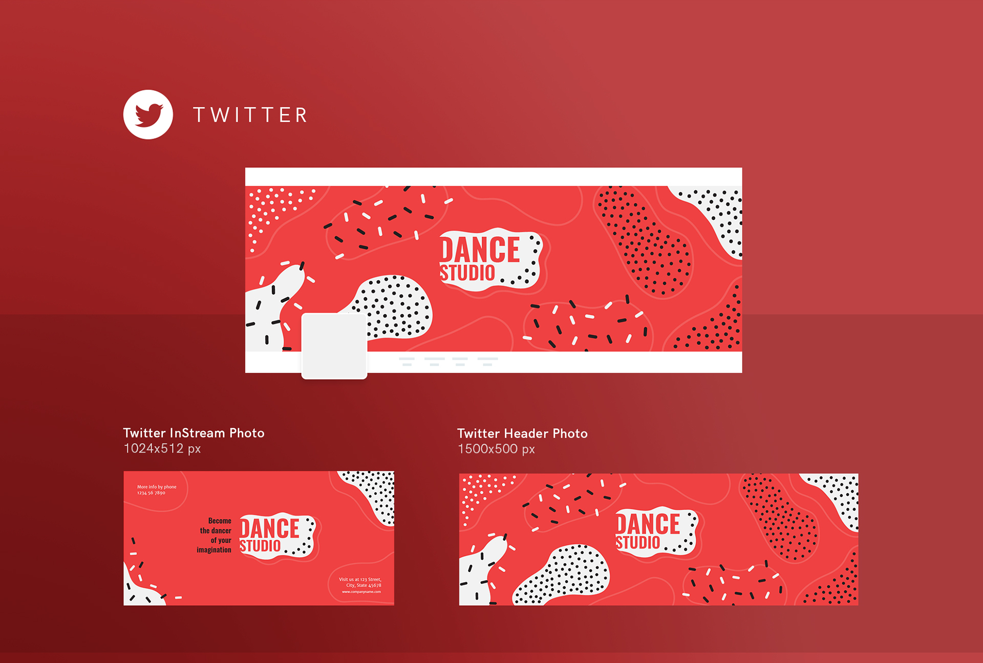 Dance Studio | Modern and Creative Templates Suite on Behance