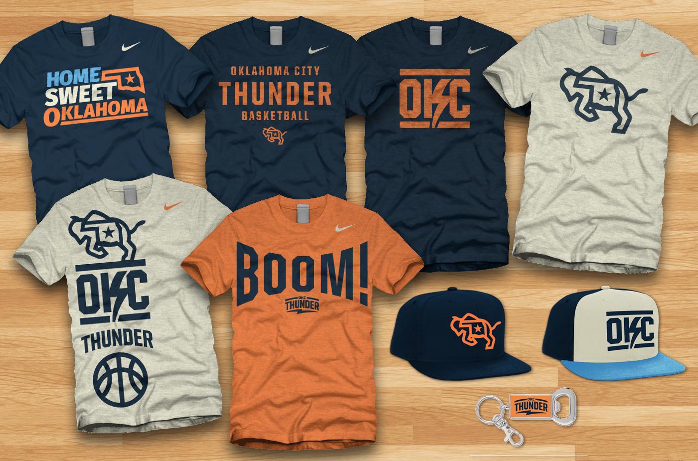 849c7ad0118 Oklahoma City Thunder Re-Brand on Behance