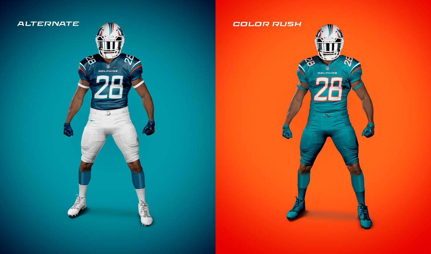 b74dda8b0 Miami Dolphins on Behance