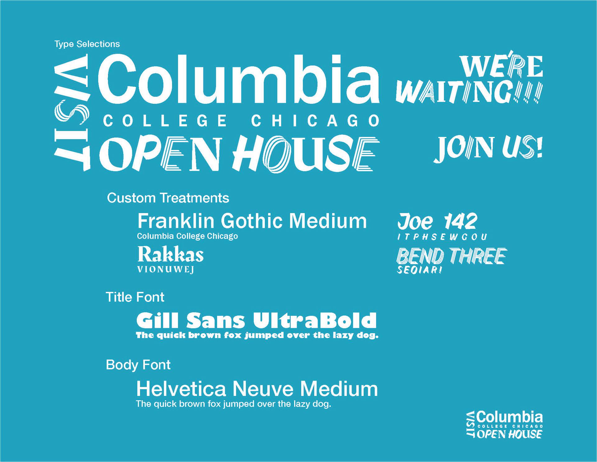 Columbia College Openhouse Invite on Behance