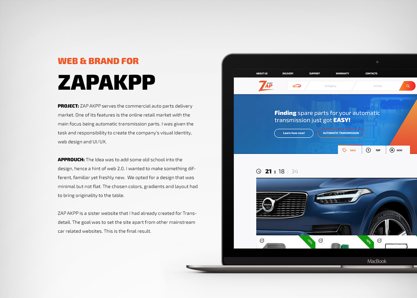 Web & Brand for Zap on Behance