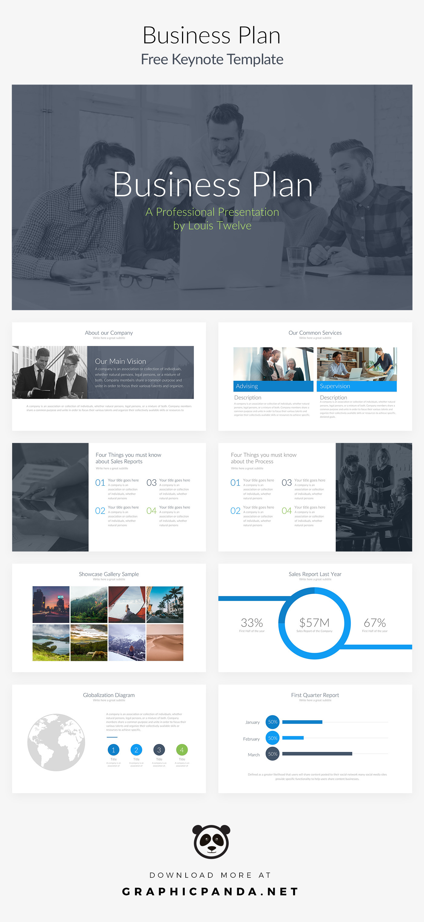 Free keynote template business plan pitch deck on behance if youre struggling with making a well designed presentation then this business plan free powerpoint template can help you achieve the creative and accmission Gallery