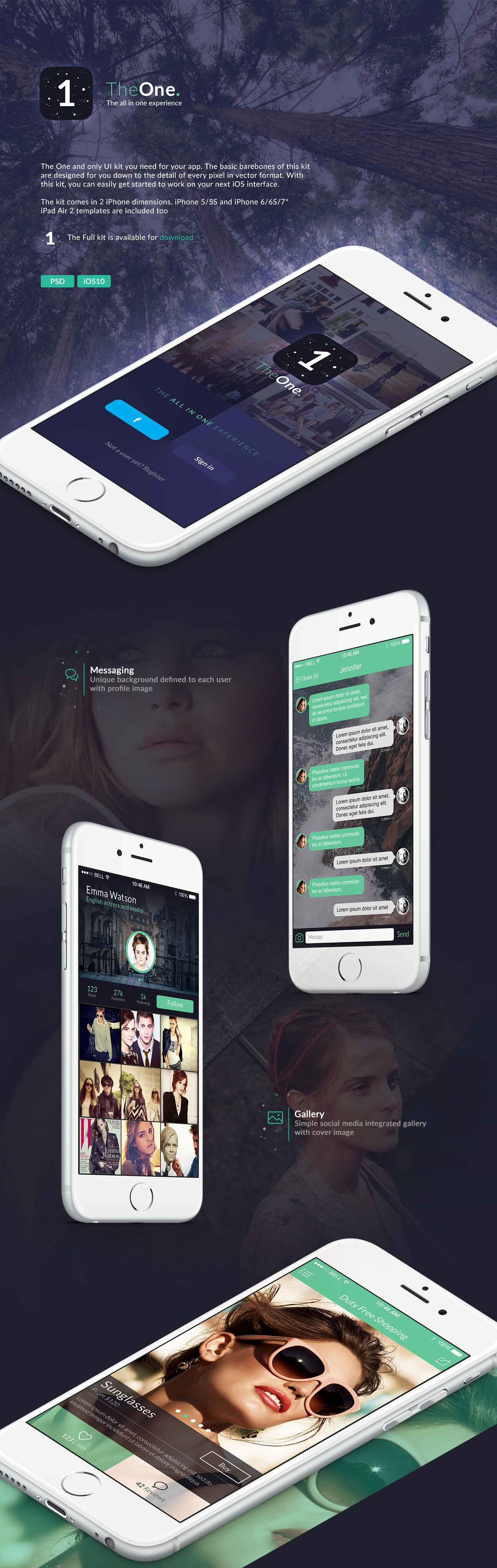 The One iOS10 template on Behance