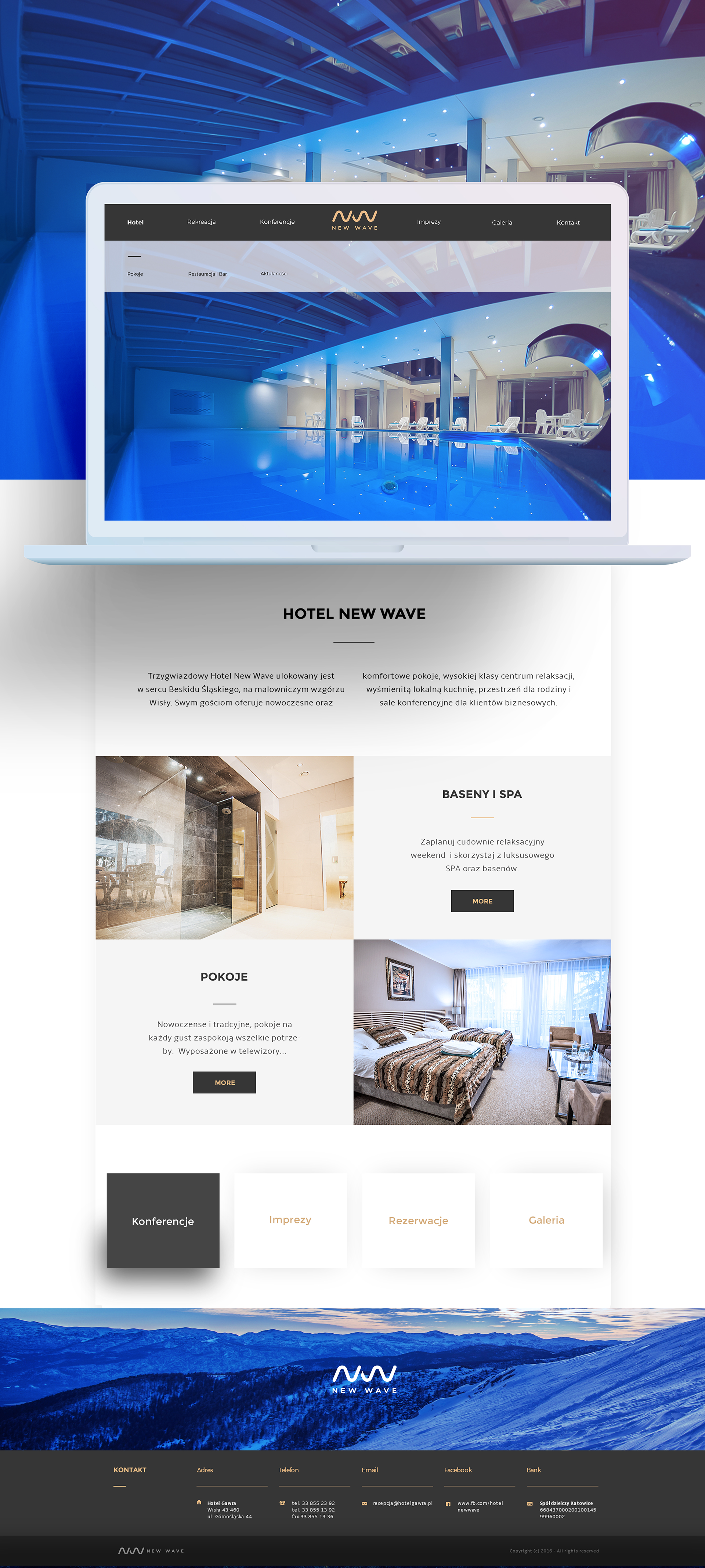 Web Design & UI/UX: New Wave Hotel & Spa