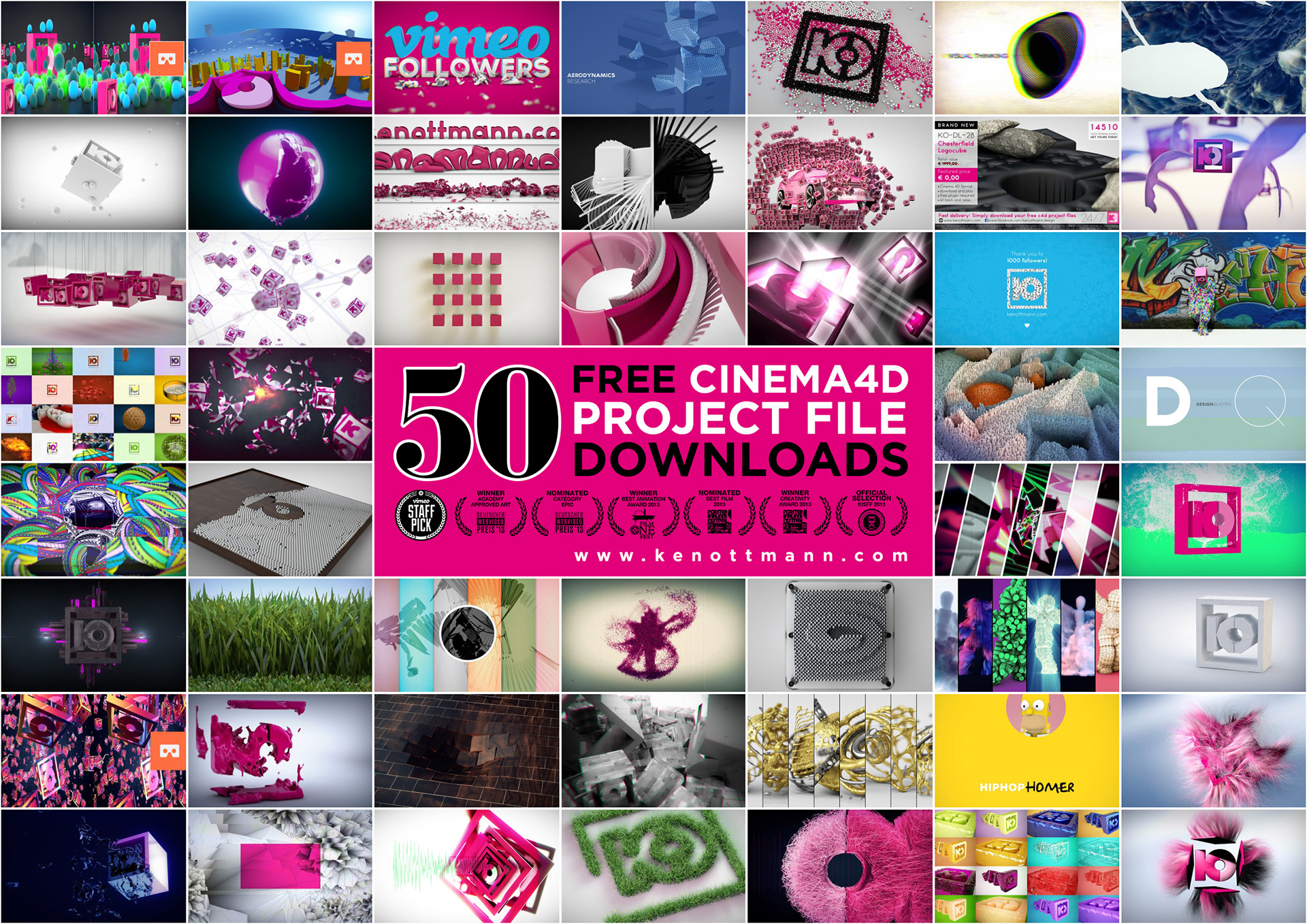 DOWNLOAD FREE CINEMA 4D PROJECTS - UPDATE 2016 on Behance