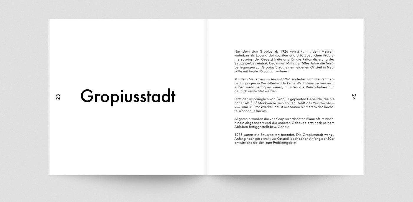 Walter Gropius Booklet on Behance