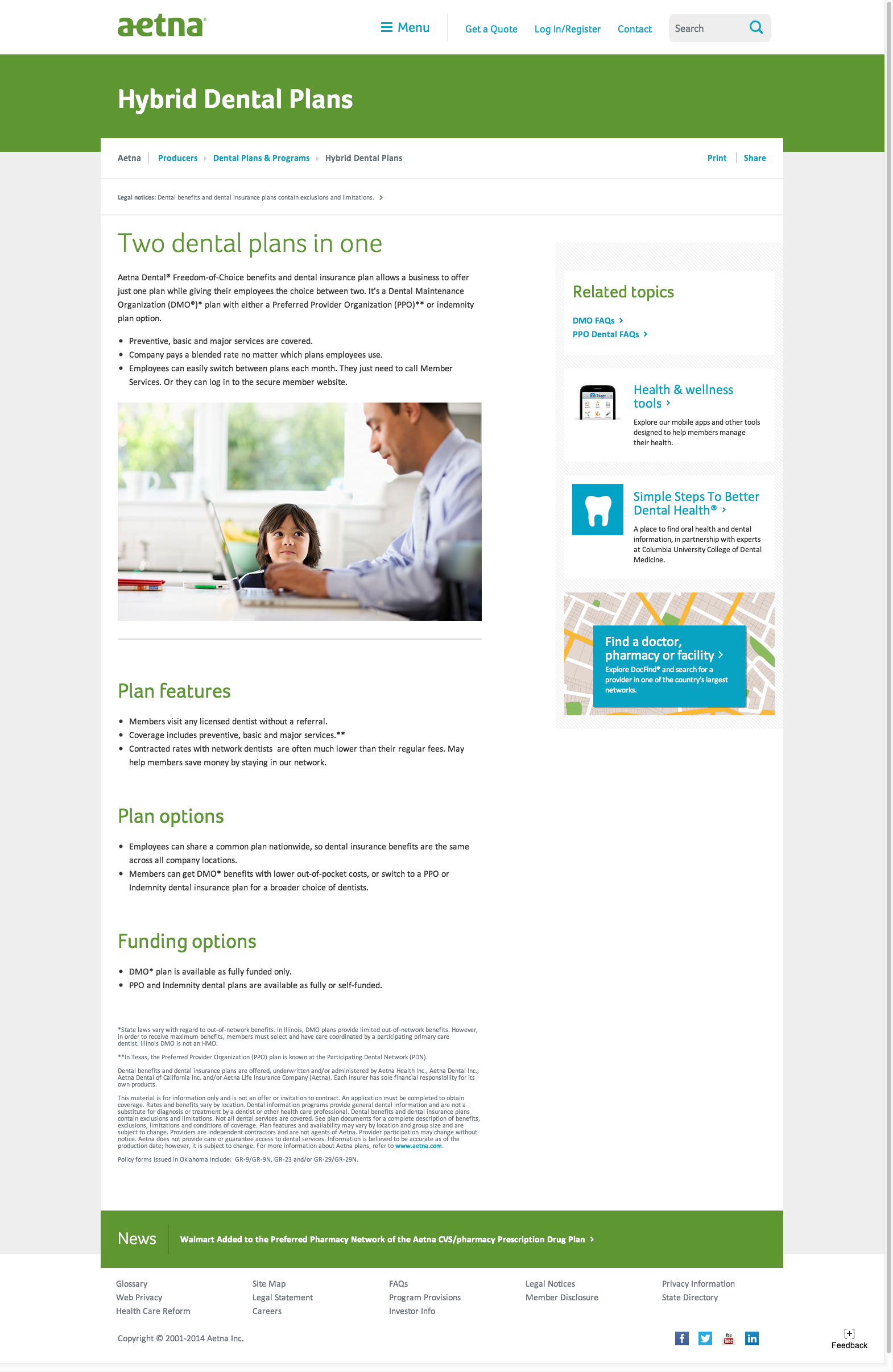 Aetna com Site Redesign on Behance