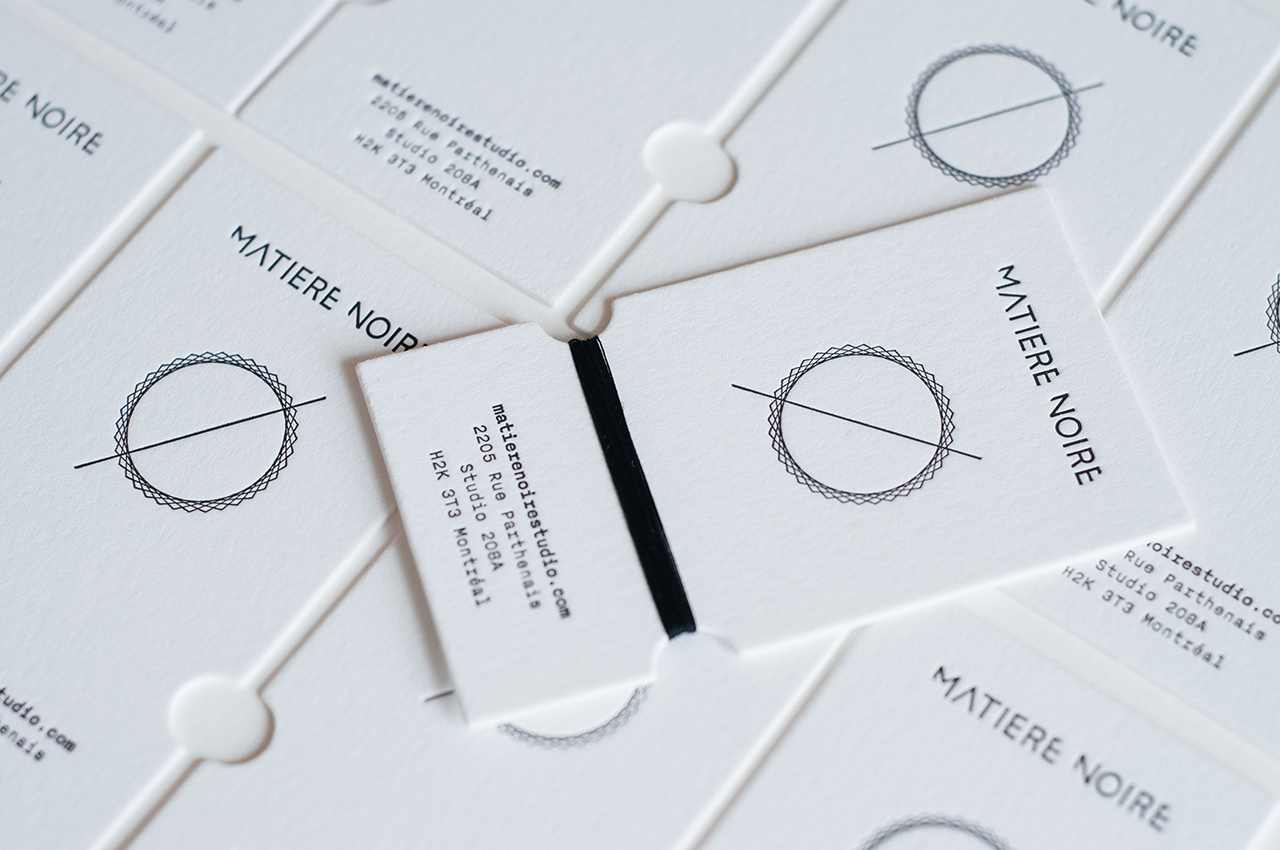 Favorite Matière Noire Handmade Business Card on Behance DC55