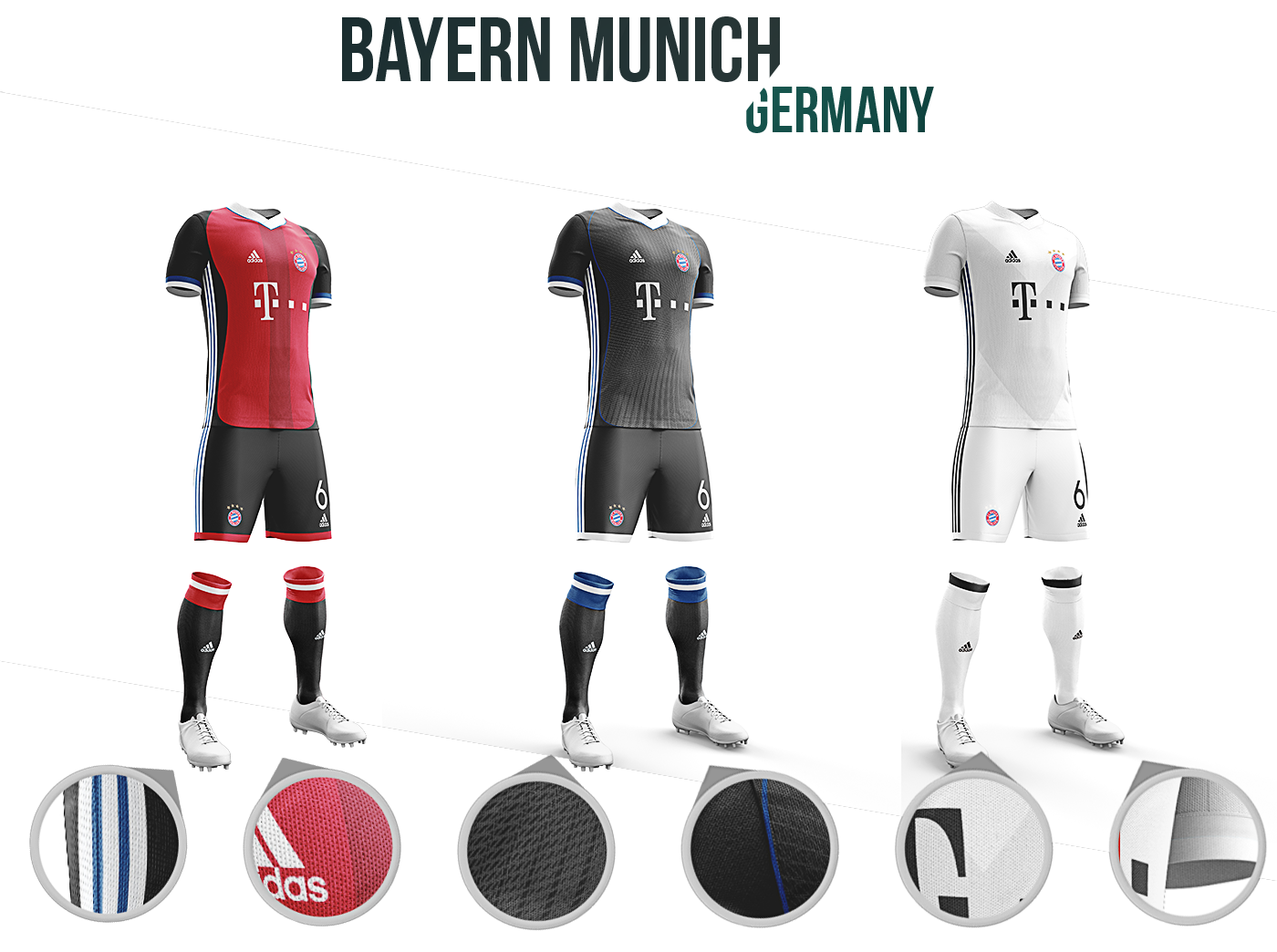 3431f87fb Football kit concepts  a study of identity on Behance