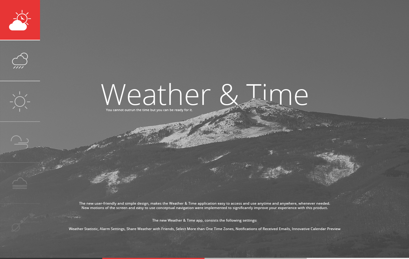 Weather & Time App Release on Behance