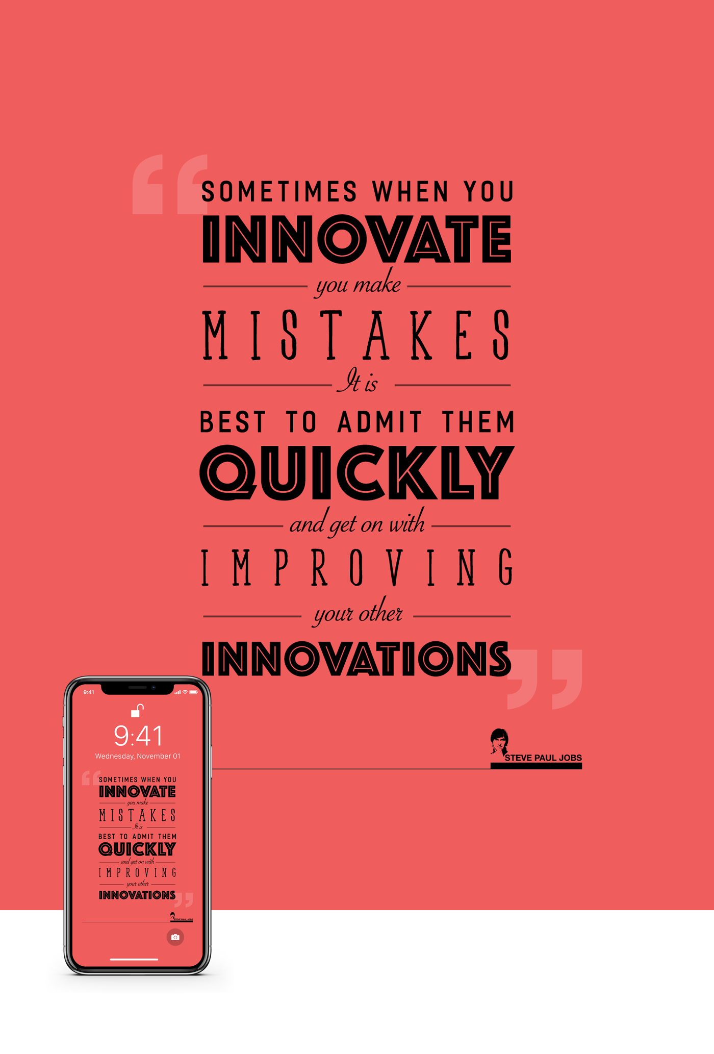 Iphone X Wallpaper Steve Jobs Quotes Free Download On Behance
