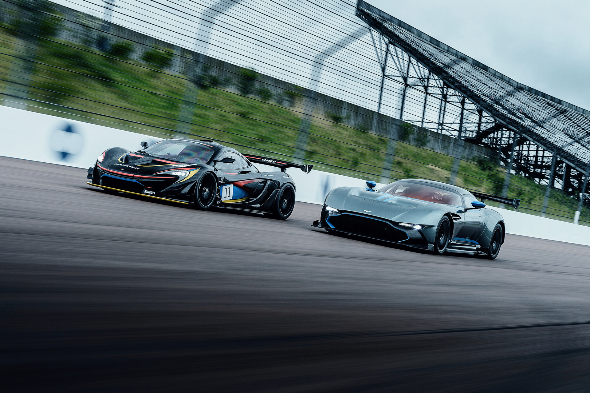 Mclaren P1 Gtr Vs Aston Martin Vulcan On Behance