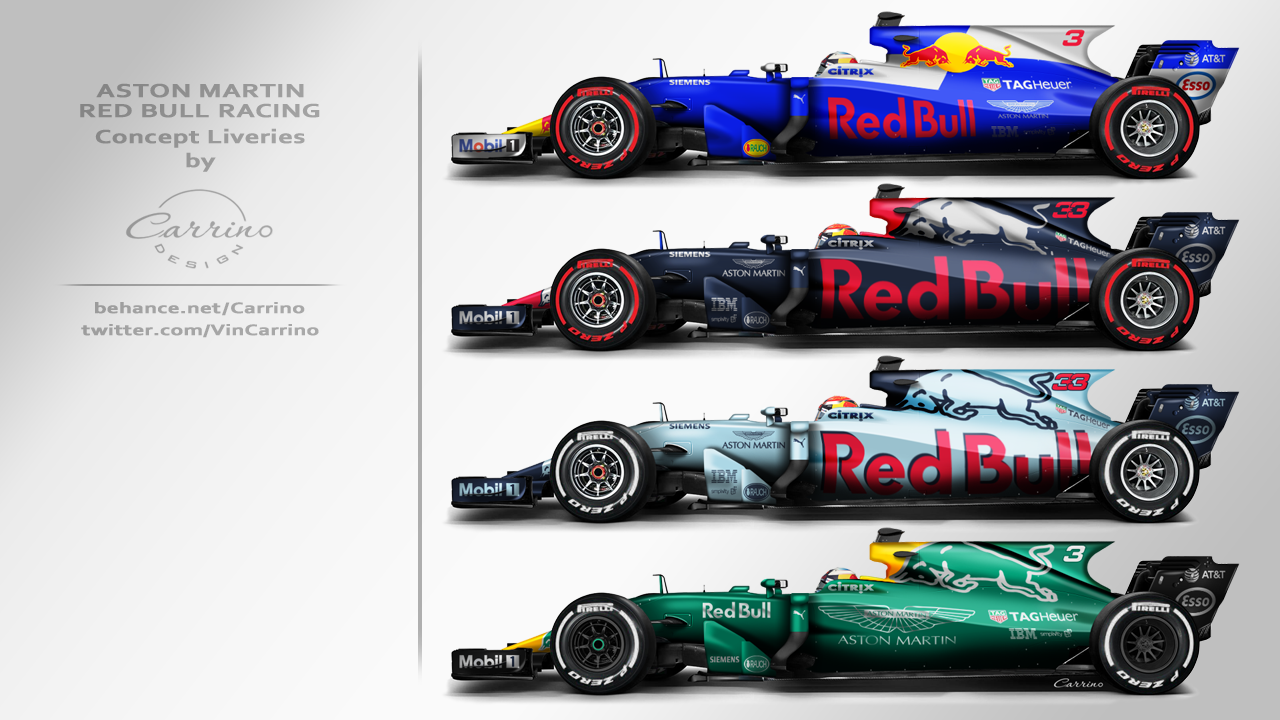 2018 Aston Martin Red Bull Racing F1 Concept Liveries On Behance