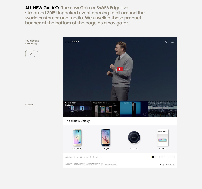 samsung galaxy brand site on behance