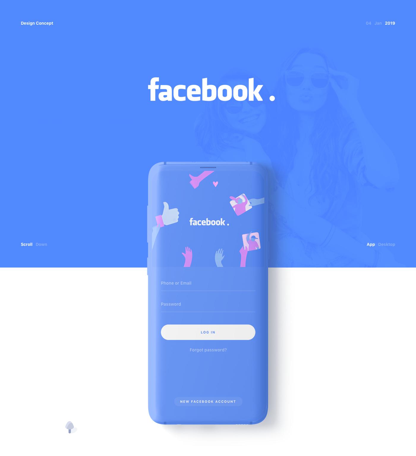 Facebook 2019 : App & Site on Behance