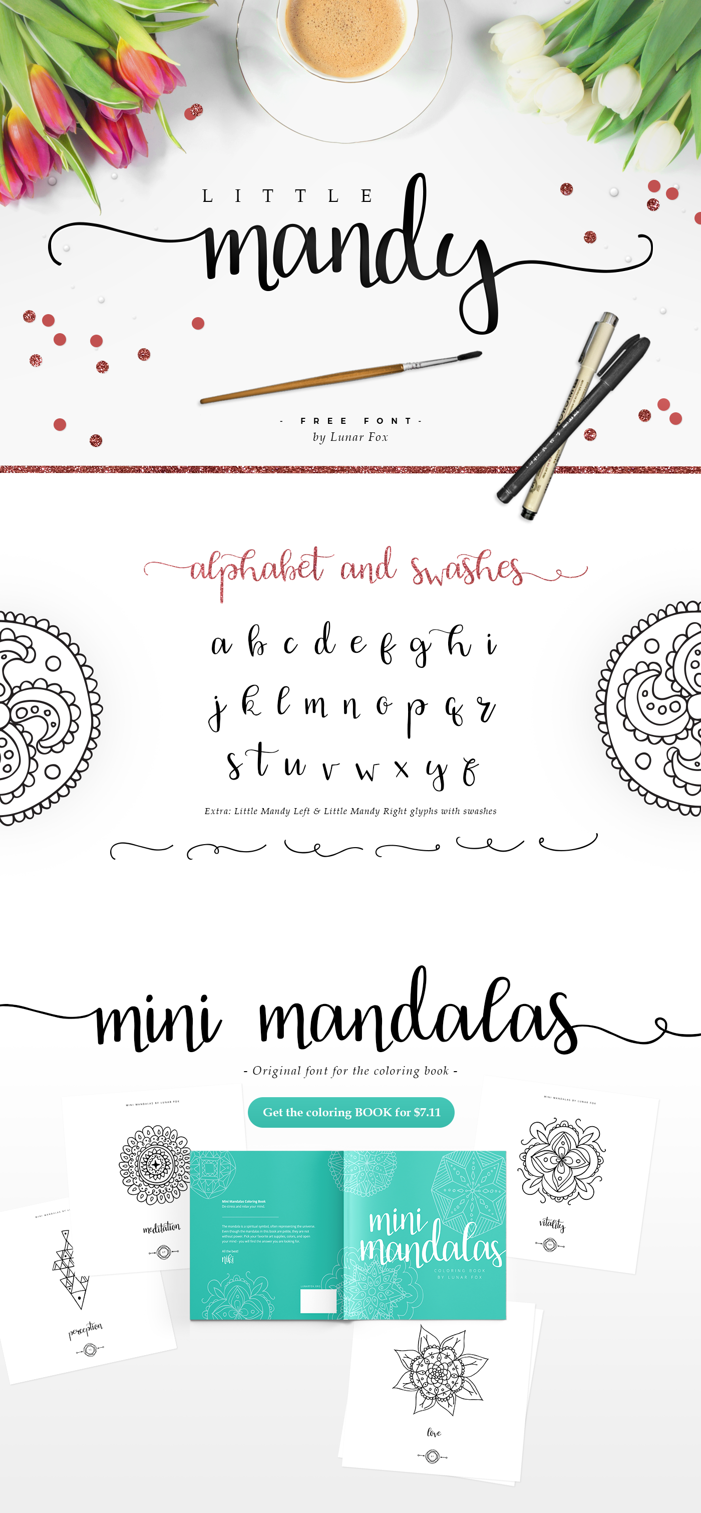 Some People Asked For The Font That Was Used In Coloring Book Mini Mandalas So They Could Use It Their Projects Now We Are Publishing And
