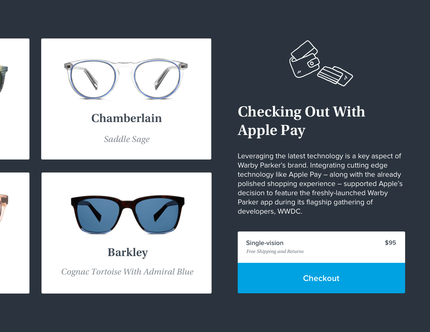 9416905957d6 We helped build an award-winning app that was featured in the App Store  immediately upon launch. The team at Warby Parker is now well-poised to  continue a ...