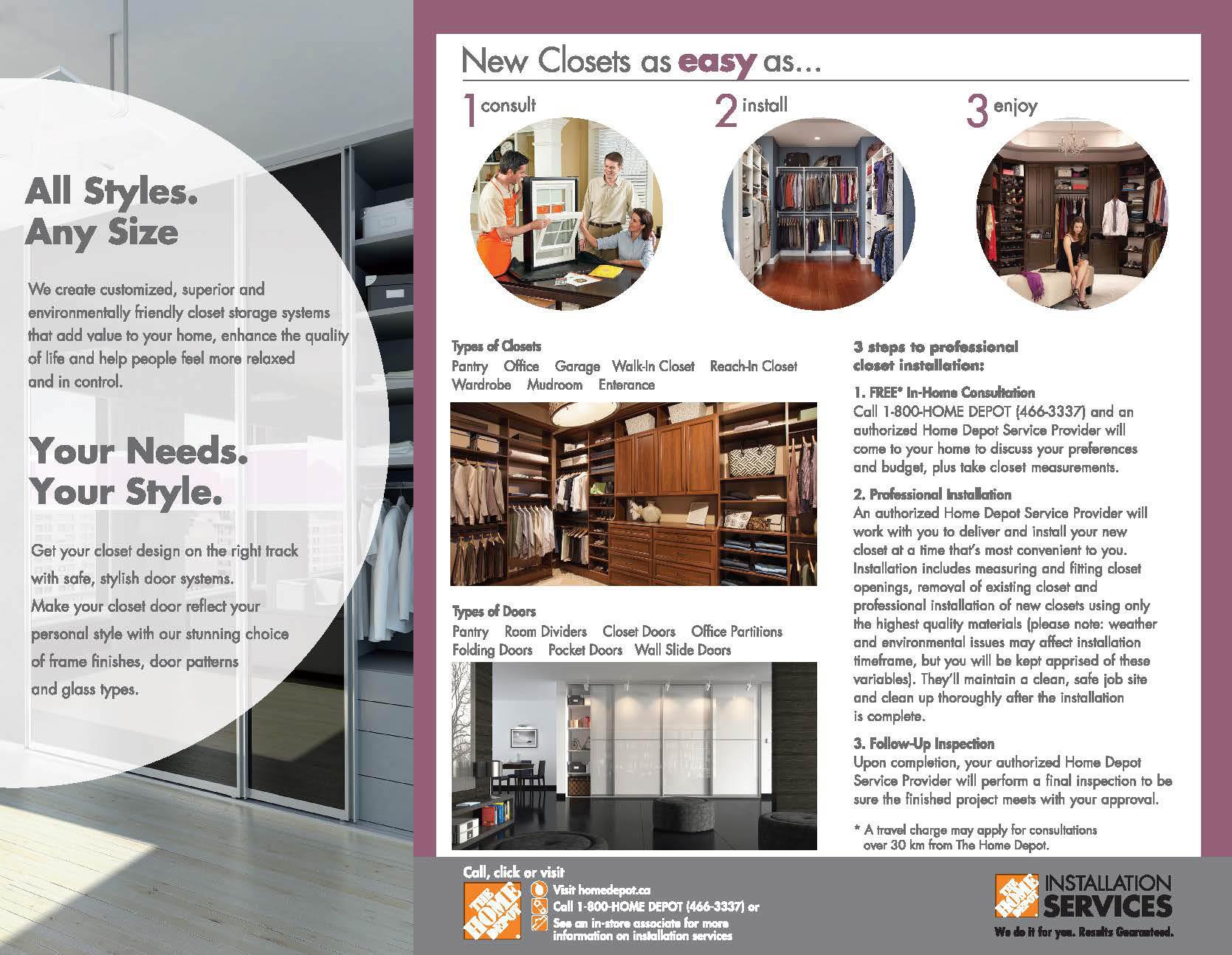 Home Depot Custom Closet Brochure Design on Behance