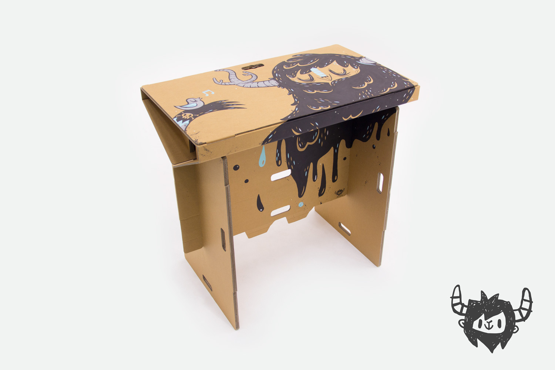 Elegant Cardboard Standing Desk | Refold On Behance Design