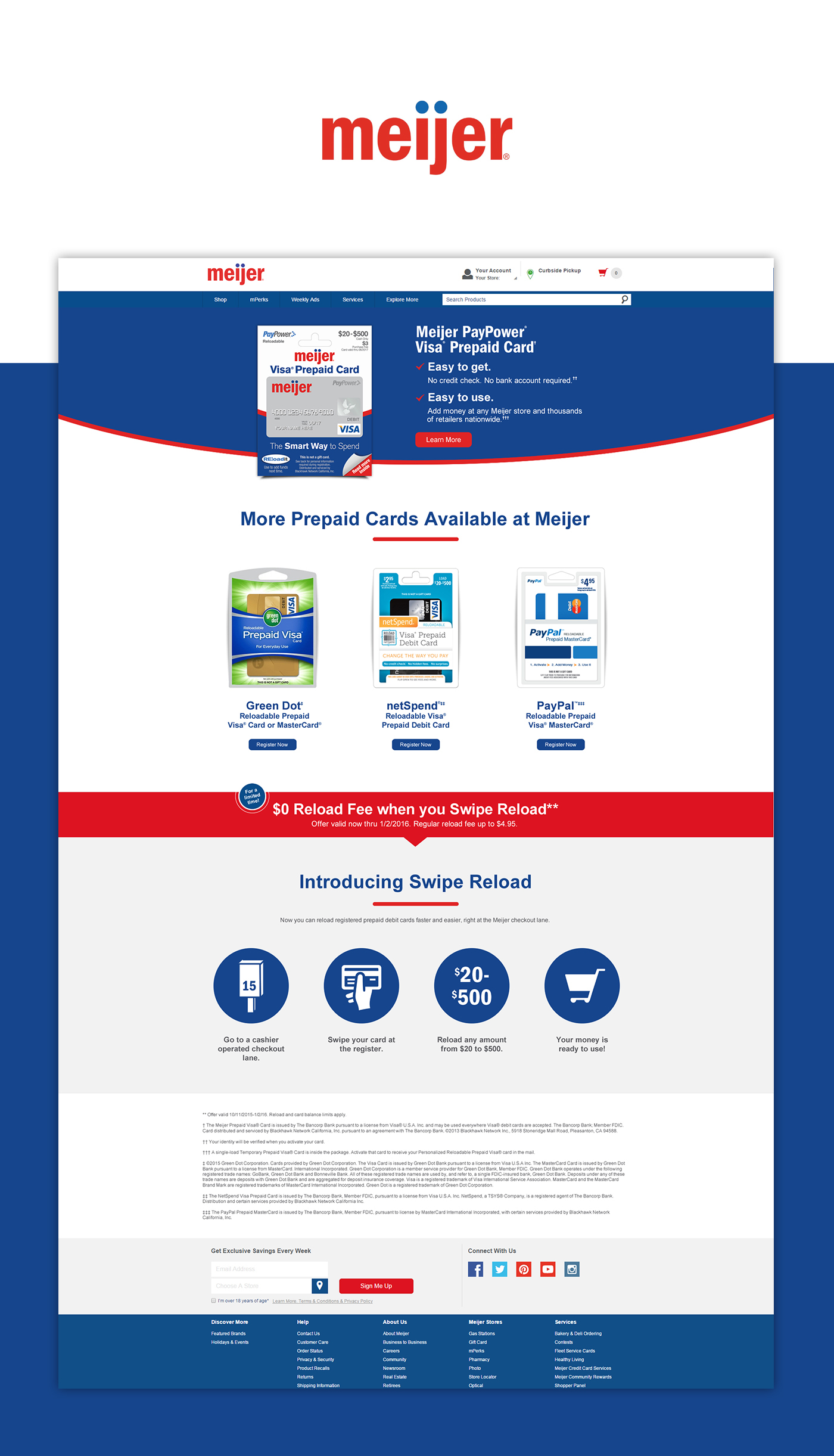 Meijer Prepaid Cards On Behance Reload 500 Thank You