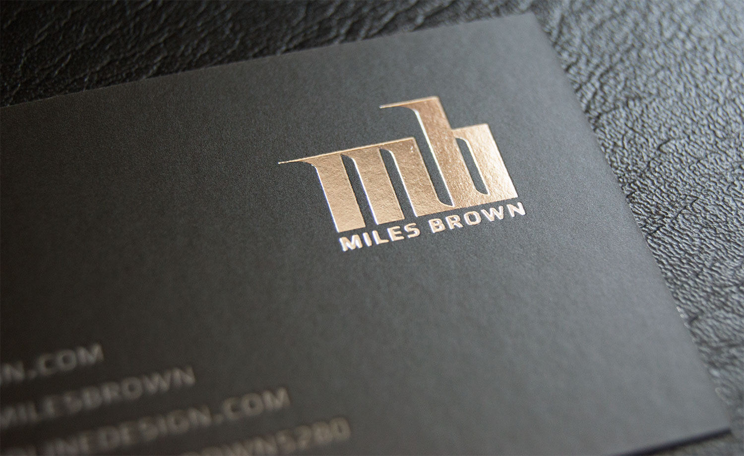 Miles Brown - Personal Business Card