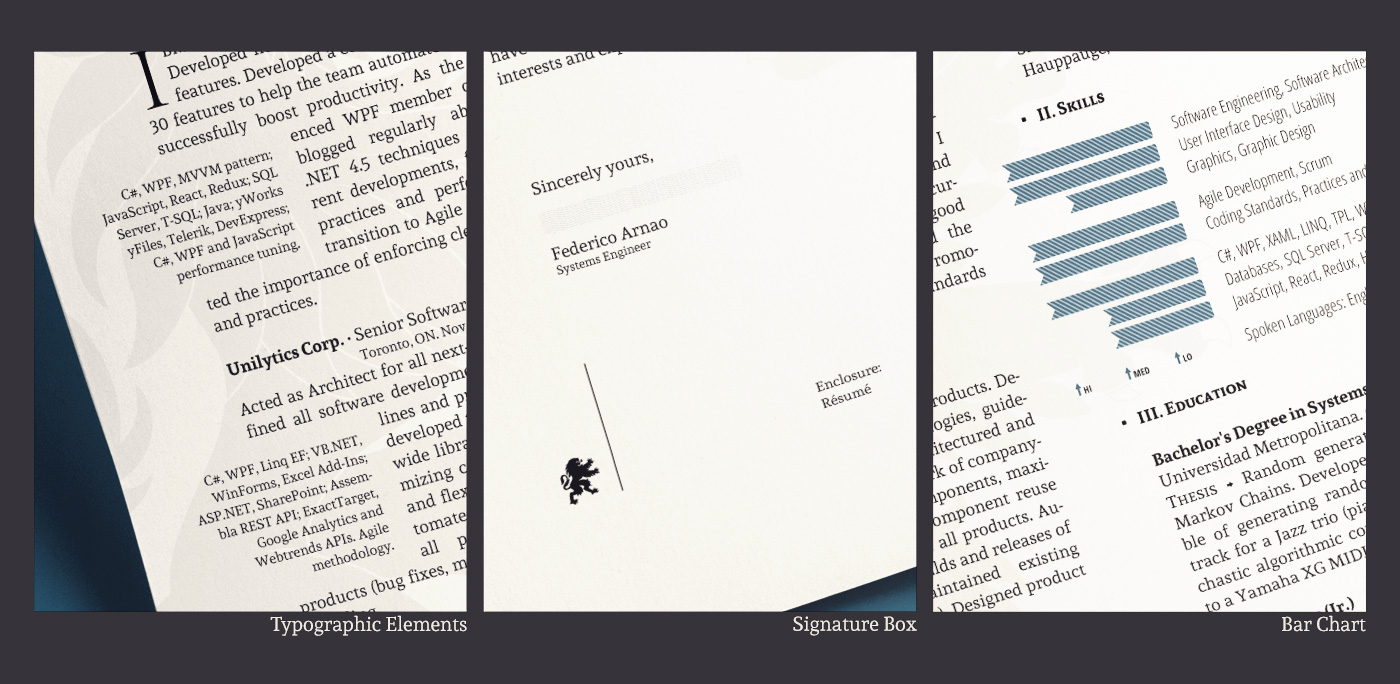 résumé cover letter on behance