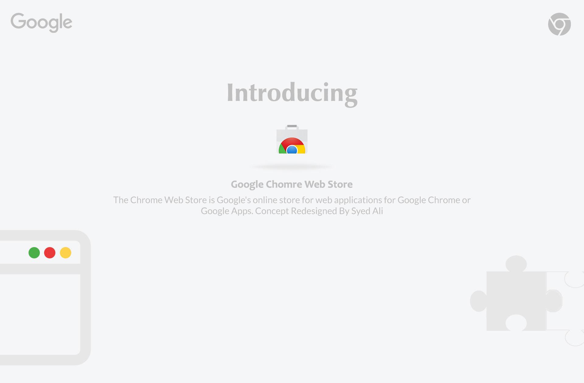 Google Chrome Web store on Behance