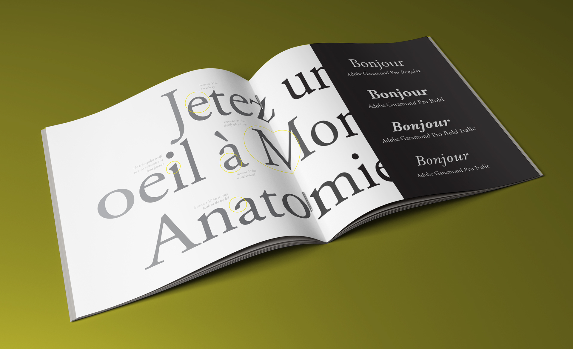 Type Specimen Book: Garamond on Behance