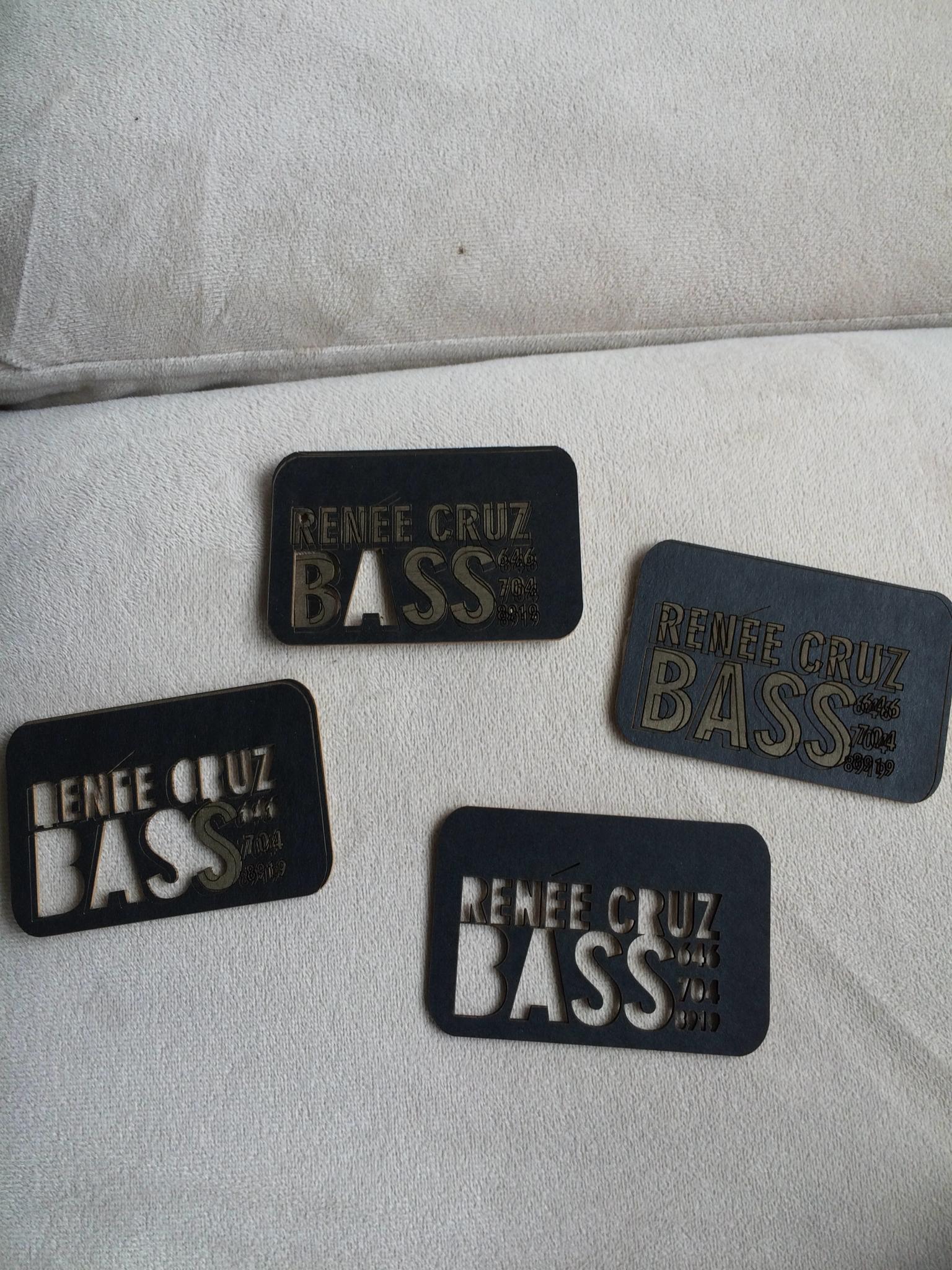 Renée Cruz - Laser Cut Business Cards
