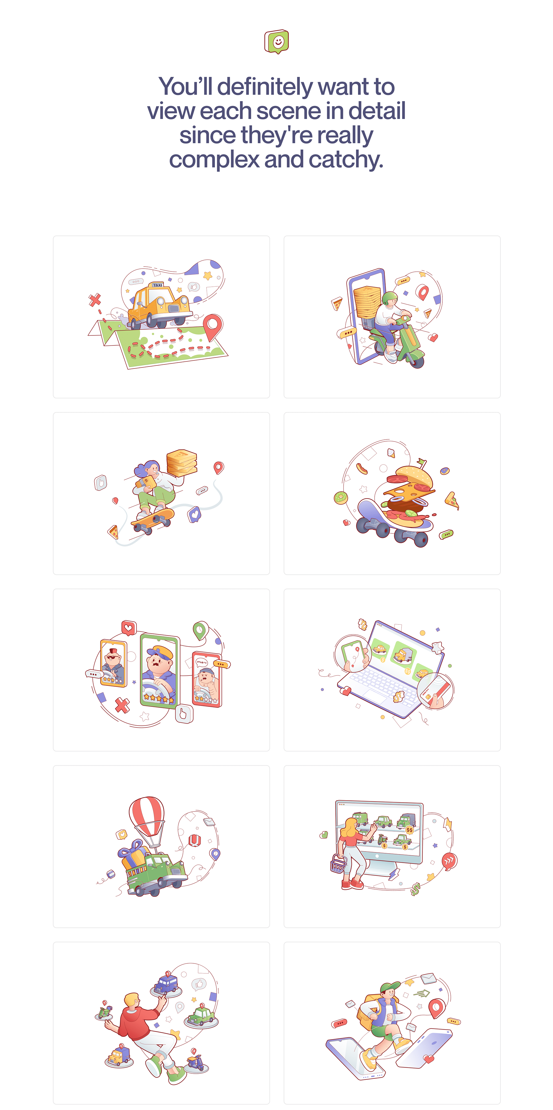 Delivery Man illustrations