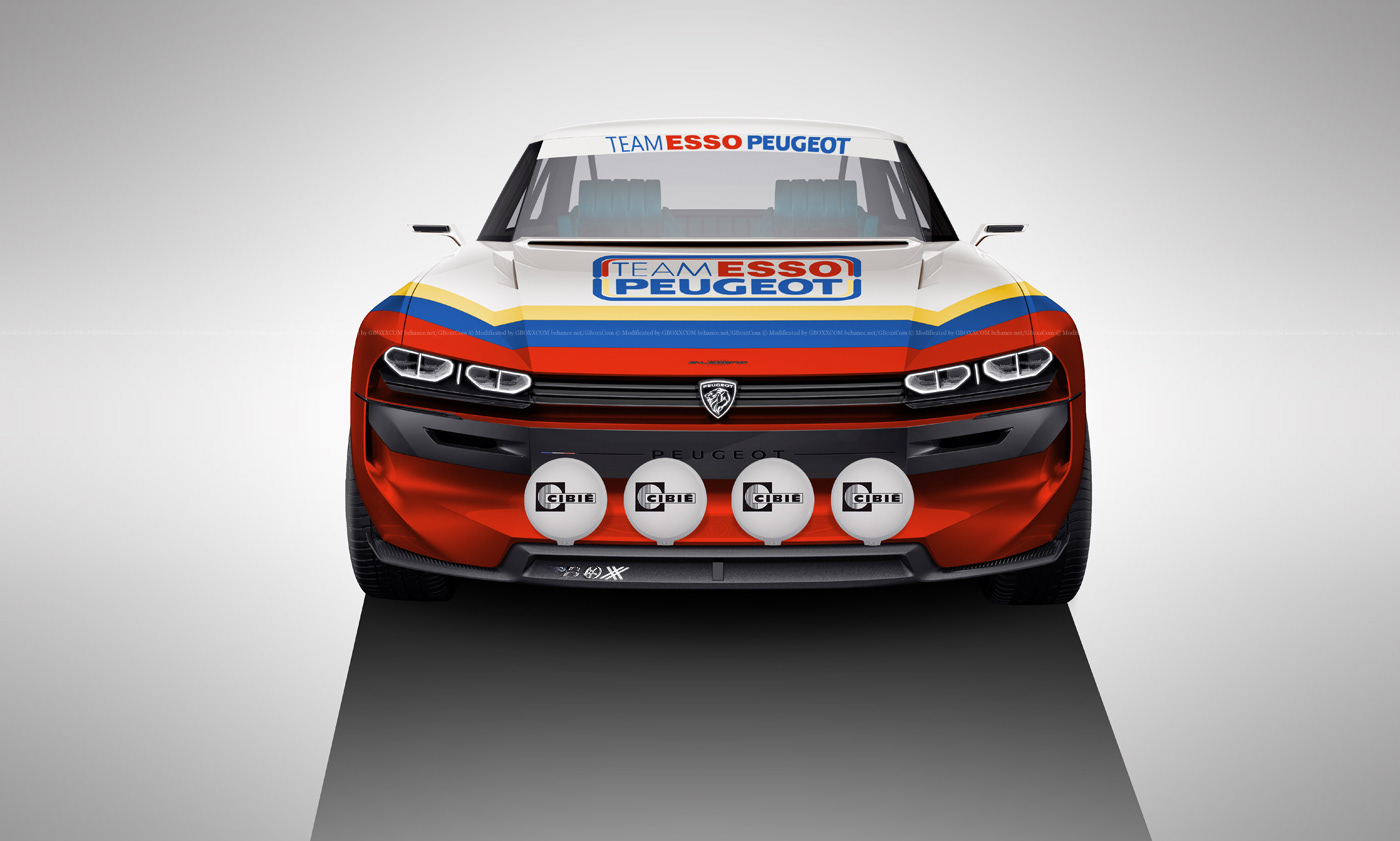 Peugeot E Legend Rally On Behance
