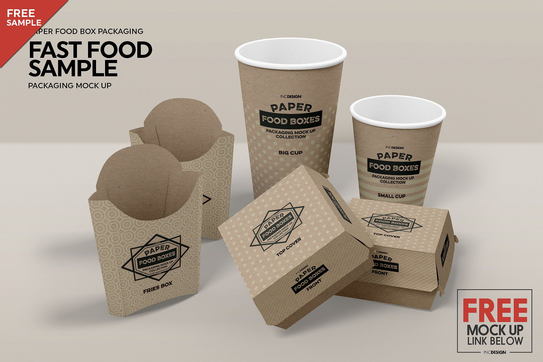 Paper Food Packaging Mockup Bundle on Behance
